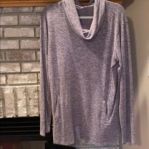 Maurices pink heather pullover shirt with pockets